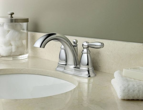 Centerset Bathroom Faucet with Drain Assembly 1