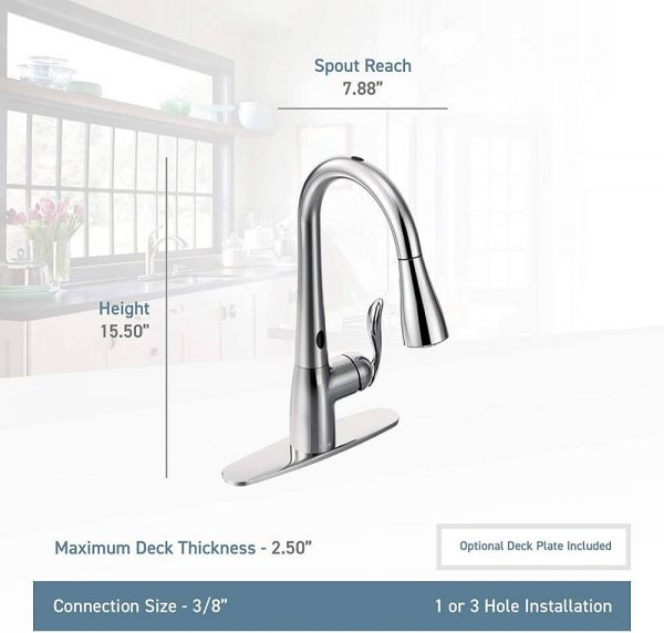 Moen Touchless One-Handle Pulldown Kitchen Faucet 5