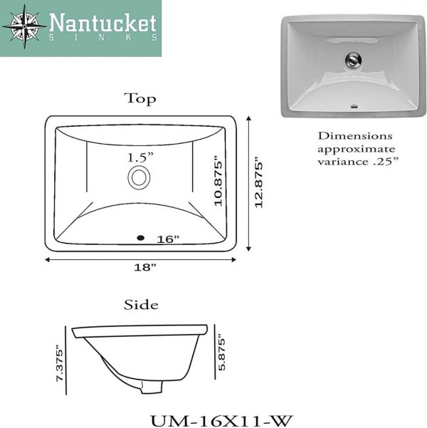 Rectangle Ceramic Undermount Vanity 1
