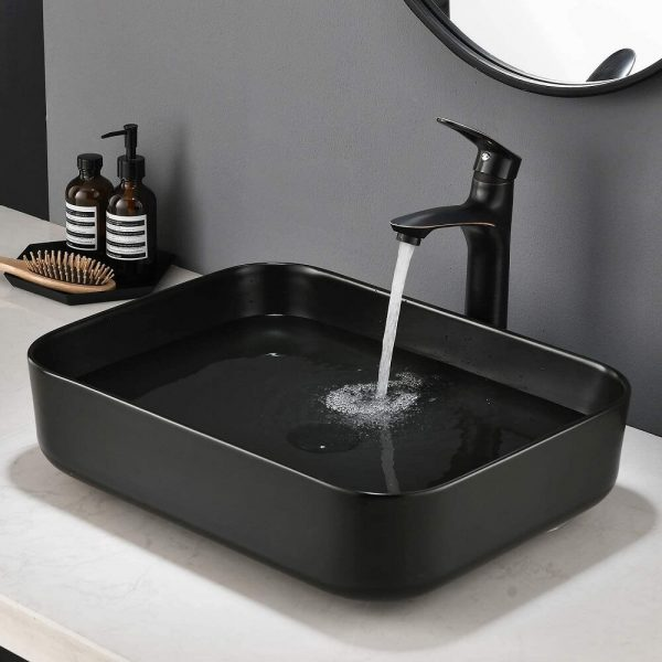 Black Bathroom Vessel Sink 1