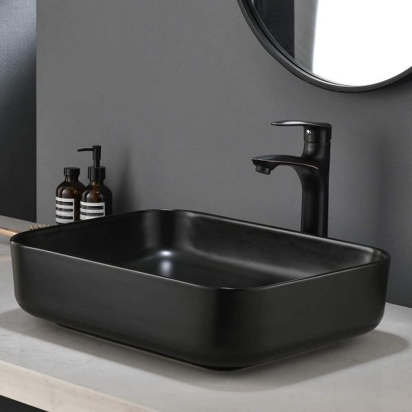 Black Bathroom Vessel Sink 3