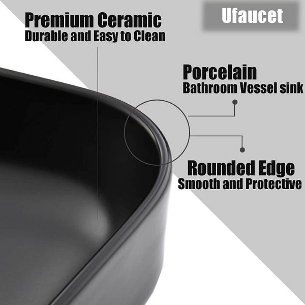 Black Bathroom Vessel Sink 4