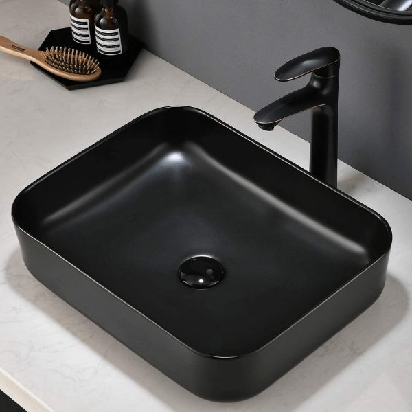 Black Bathroom Vessel Sink