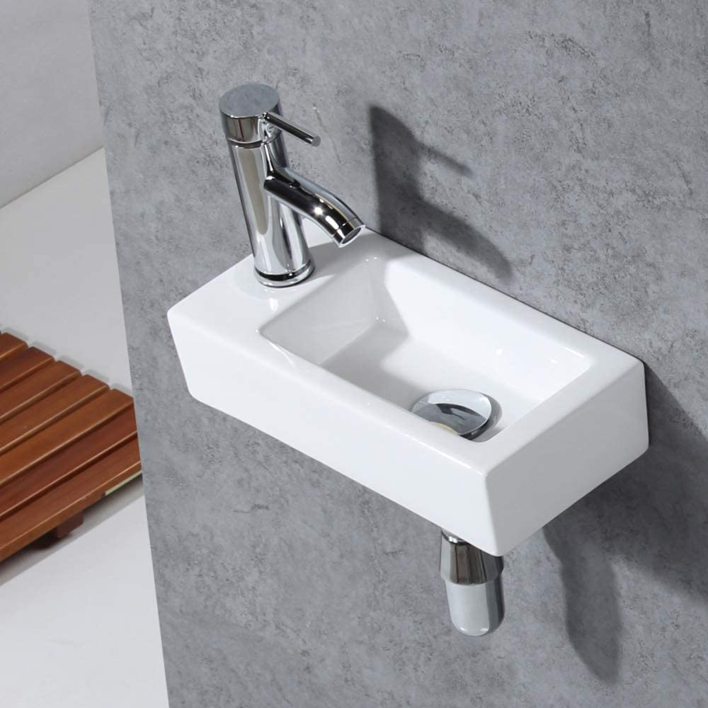 Gimify Bathroom Corner Sink Wall, Wall Mount Sinks For Small Bathrooms